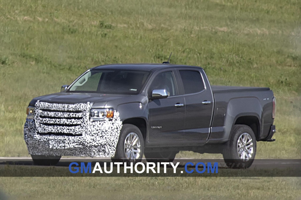 GMC Canyon Facelift Spotted With Larger Grille GM Authority